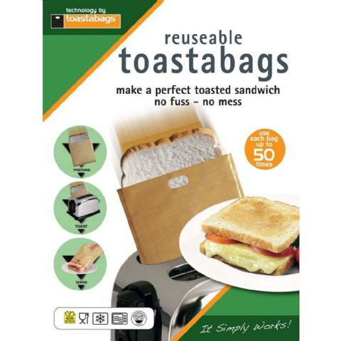 Pack 2 Toastabags 50 Toasted Sandwich Toaster Bags